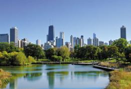 Étang de Lincoln Parc à Chicago